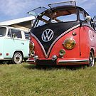 Three VW Campers by Vicki Spindler (VHS Photography)