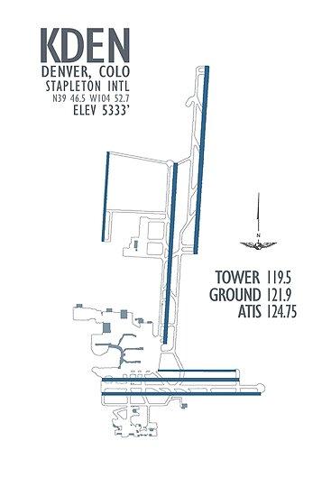 Denver Stapleton International Airport Diagramm von jdmosher