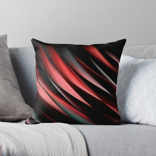 Decorative Red And Black  Throw Pillow