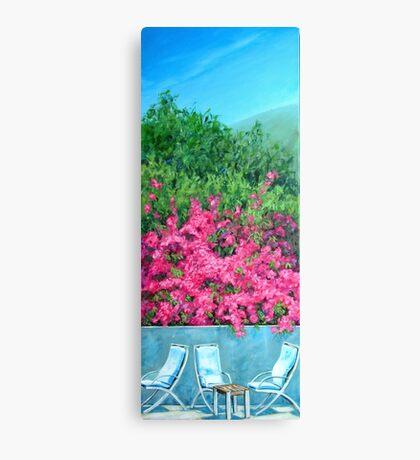 Underneath the Bougainvillea - Capri Canvas Print