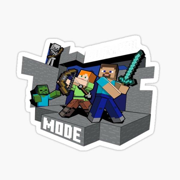 Minecraft survival mode . Sticker
