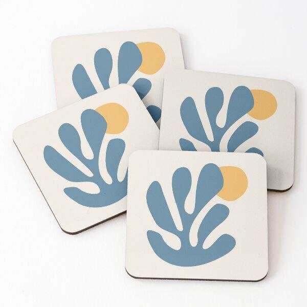 Henri Matisse Flower. Paper Decoupes Art Yellow, Matisse Cutout's Coasters (Set of 4)