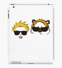 calvin and hobbes sunglasses iPad Case/Skin