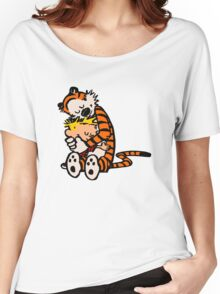 calvin and hobbes sleeping Women's Relaxed Fit T-Shirt