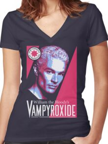 Vampyroxide Women's Fitted V-Neck T-Shirt