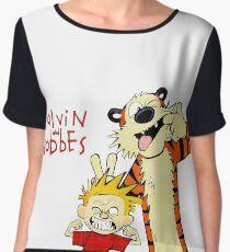 Calvin and Hobbes funny Chiffon Top