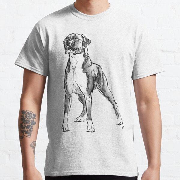 Boxer Dog Drawing Classic T-Shirt