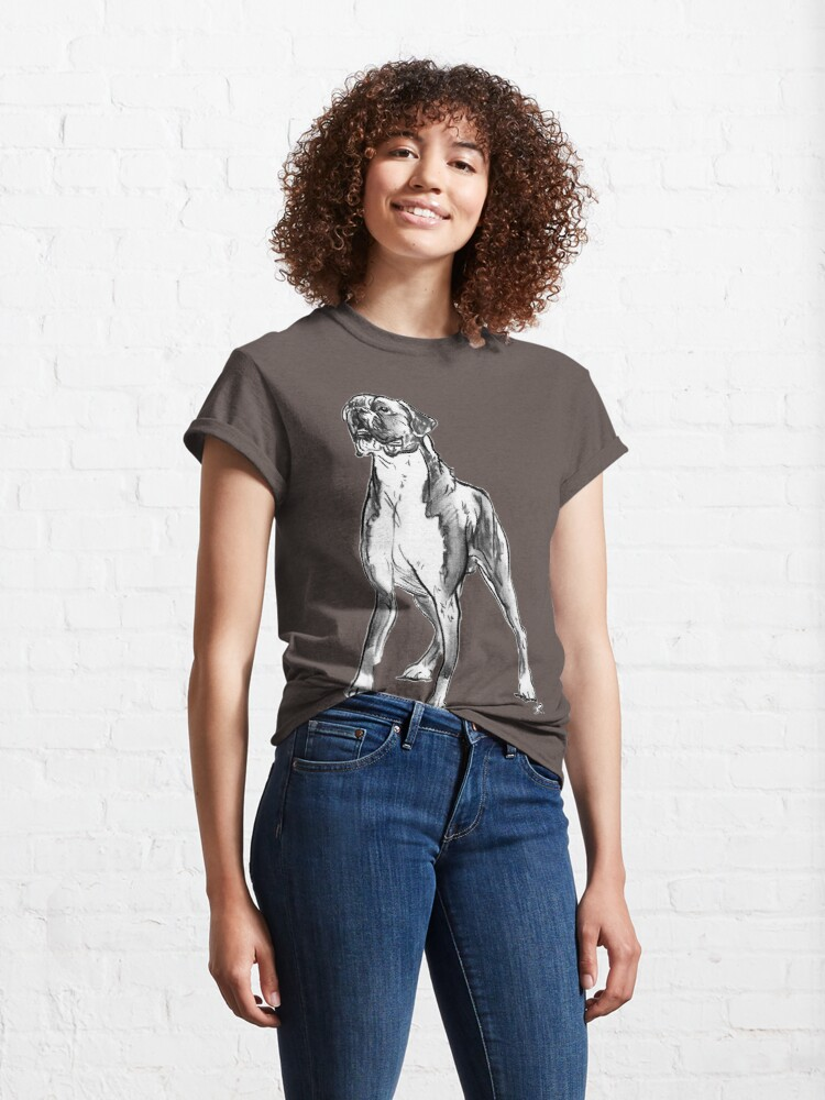Alternate view of Boxer Dog Drawing Classic T-Shirt