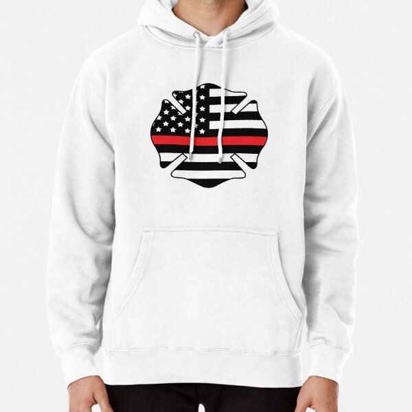 Firefighter Badge Pullover Hoodie