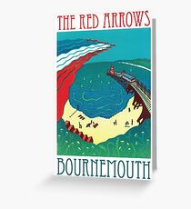 Red Arrows, Bournemouth Greeting Card