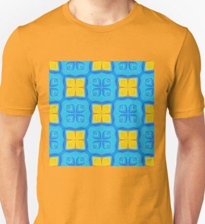 Yellow Blue DeepDream Pattern T-Shirt