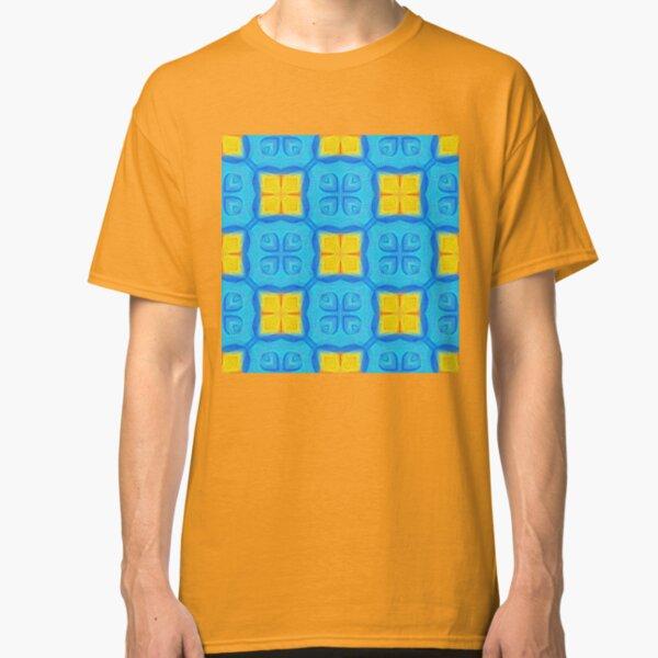 Yellow Blue DeepDream Pattern Classic T-Shirt