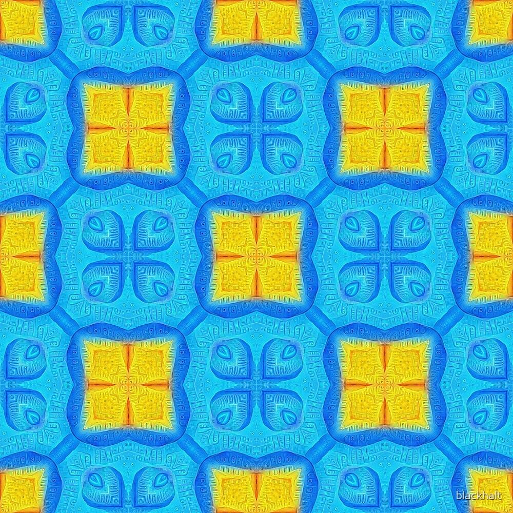 Yellow Blue DeepDream Pattern by blackhalt