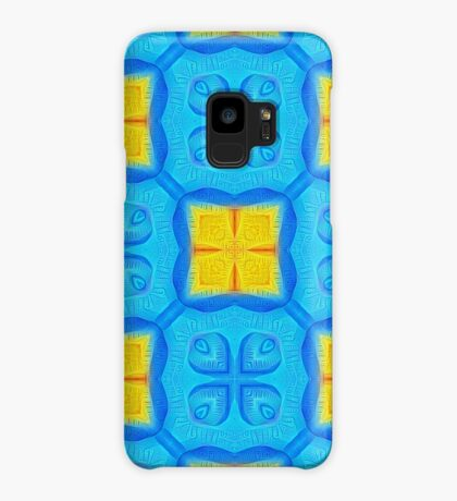 Yellow Blue DeepDream Pattern Case/Skin for Samsung Galaxy