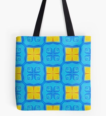 Yellow Blue DeepDream Pattern Tote Bag