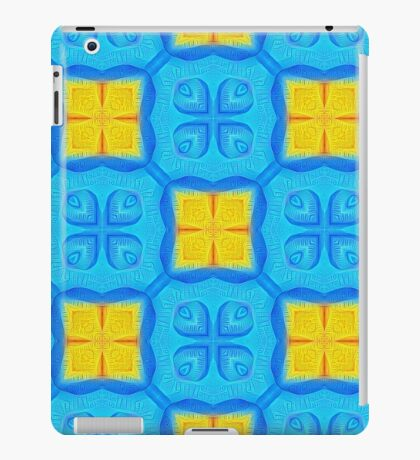 Yellow Blue DeepDream Pattern iPad Case/Skin