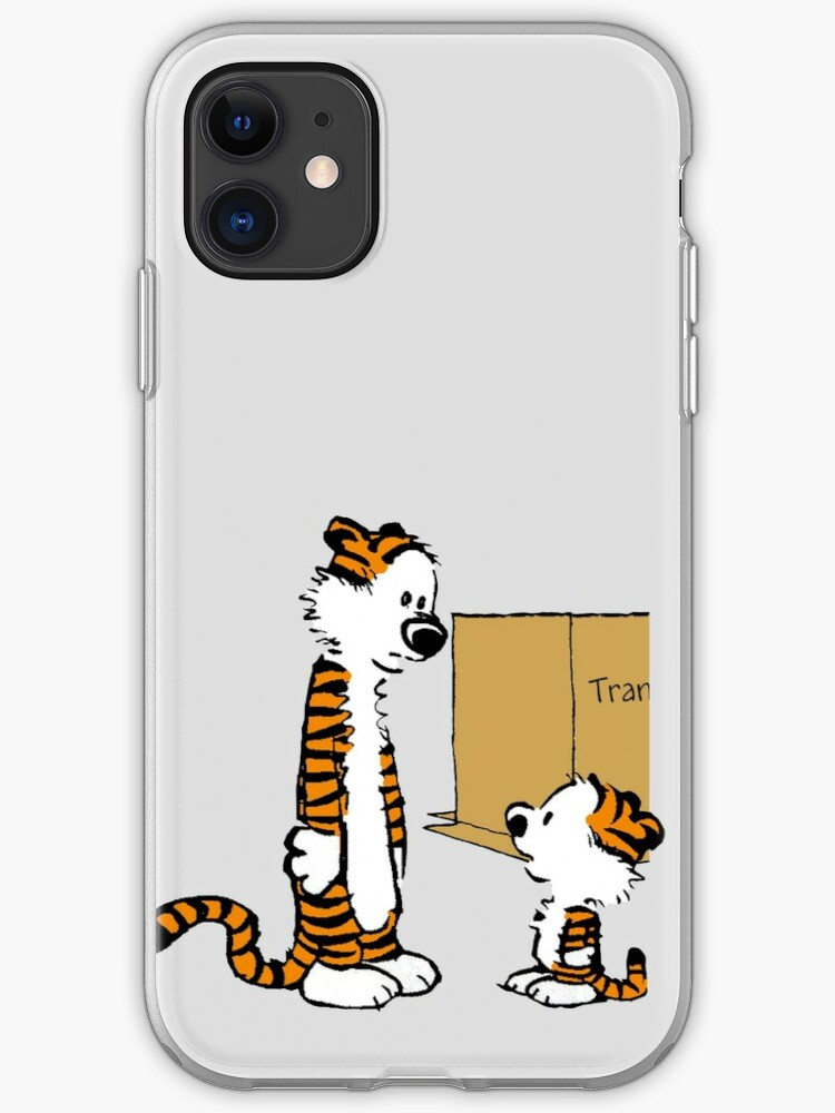 Calvin and Hobbes Face Art iphone case