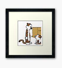 little hobbes Framed Print