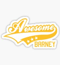 AWESOME BARNEY (yellow type) big version Sticker