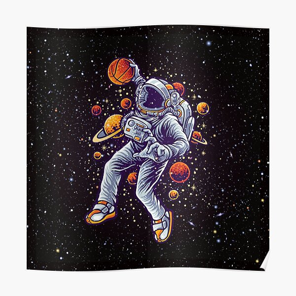 Space Basketball Poster