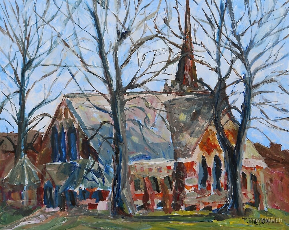 St. Paul's Anglican Church Charlottetown PEI sketch by TerrillWelch