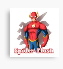 Spider-flash  Canvas Print