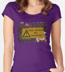 Dangerous! Women's Fitted Scoop T-Shirt