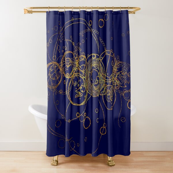 Time Lord Writing -  transparent Shower Curtain