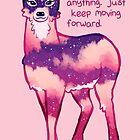 """Just Keep Moving Forward"" Night Sky Deer by thelatestkate"