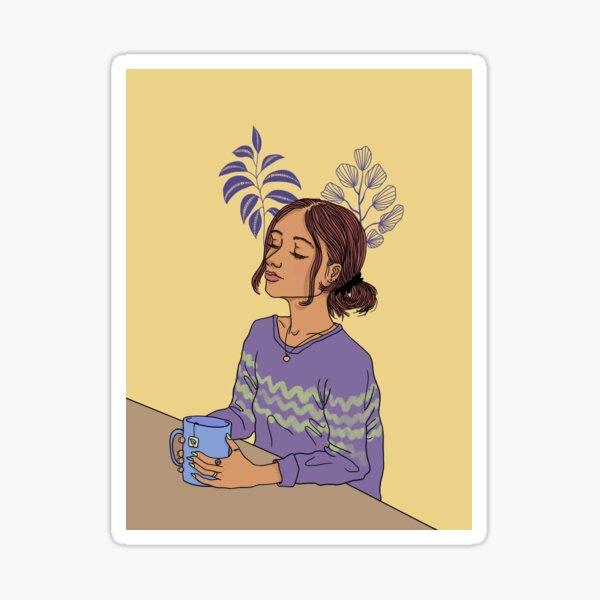 Girl illustration  Sticker