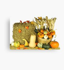 Happy Thanksgiving Day. Canvas Print