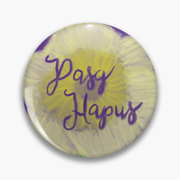 Pasg Hapus - Welsh Happy Easter Card Pin