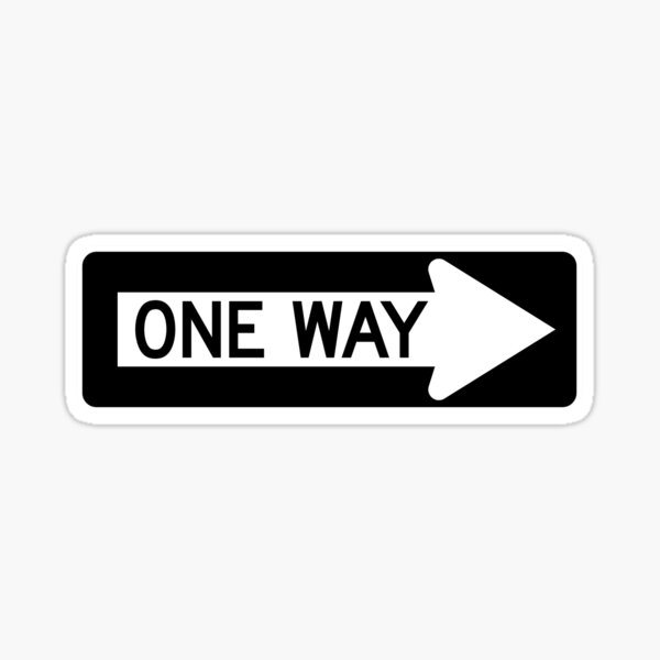 One Way Sticker