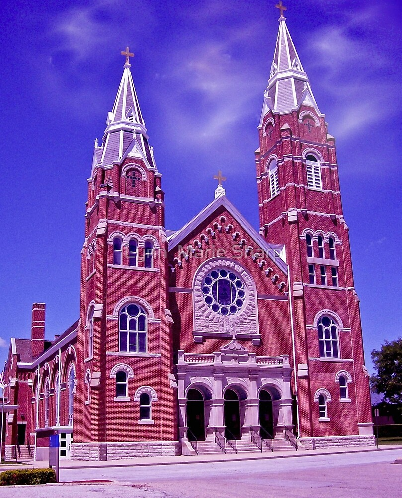 St. Joseph Church Located In The Midwest ~ USA by Marie Sharp