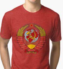 State Emblem of the Soviet Union Tri-blend T-Shirt