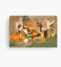 Thanksgiving Day spirit of the fall 02. Canvas Print