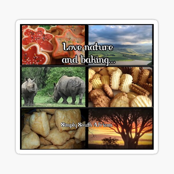 Love nature and baking... Sticker