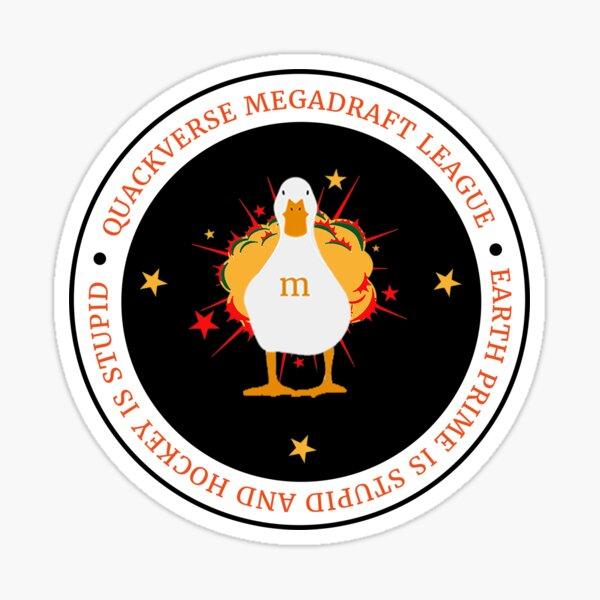 Quackverse Megadraft League Logo Sticker
