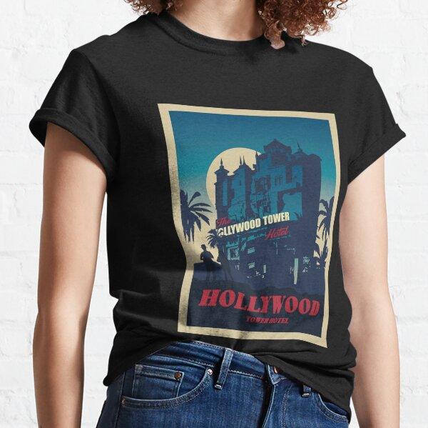 Hollywood Tower Hotel - Minimalist Travel Style - Theme Park Art Classic T-Shirt