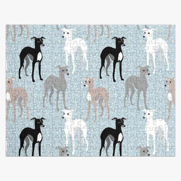 Italian Greyhounds Mid-Century Modern Pattern Jigsaw Puzzle