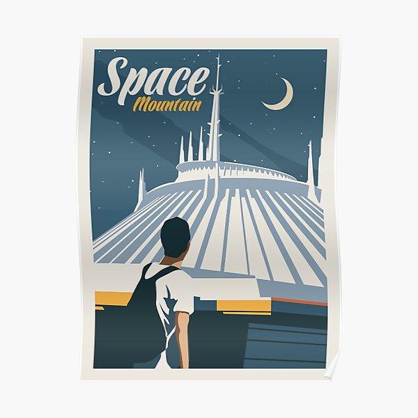 Space Mountain - Minimalist Travel Style - Theme Park Art Poster