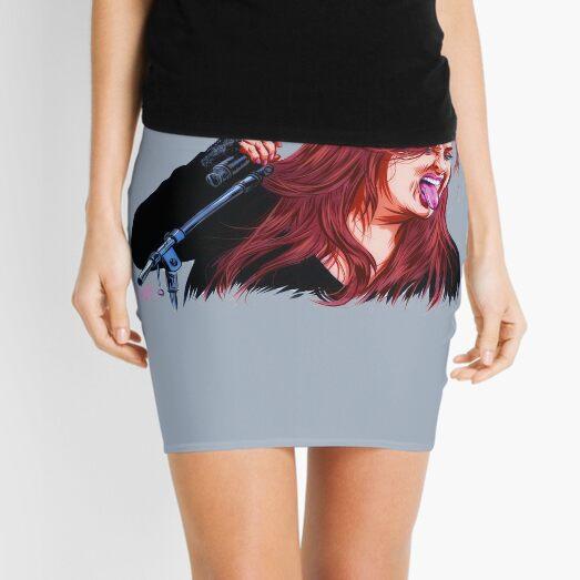 Wynona Judd - An illustration by Paul Cemmick Mini Skirt