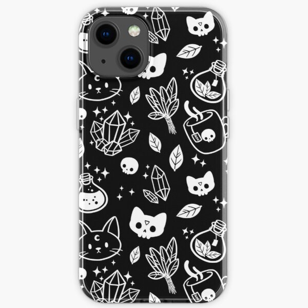 Herb Witch // Black and White   Nikury iPhone Soft Case