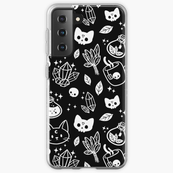 Herb Witch // Black and White | Nikury Samsung Galaxy Soft Case
