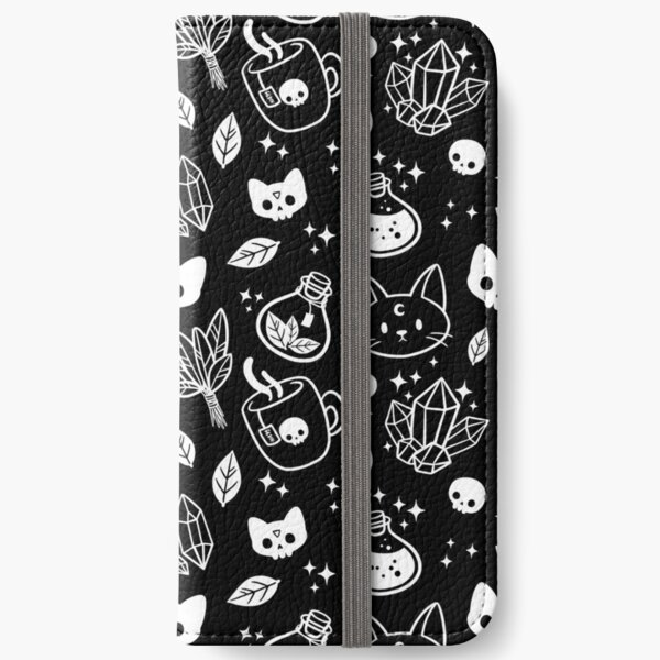 Herb Witch // Black & White iPhone Wallet