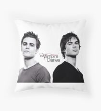 The vampire diaries Salvatore Brothers  Throw Pillow