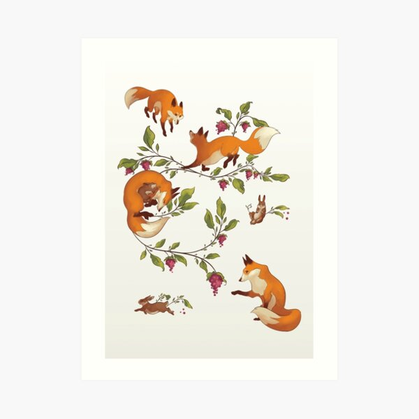 The Fox - and other tales Art Print
