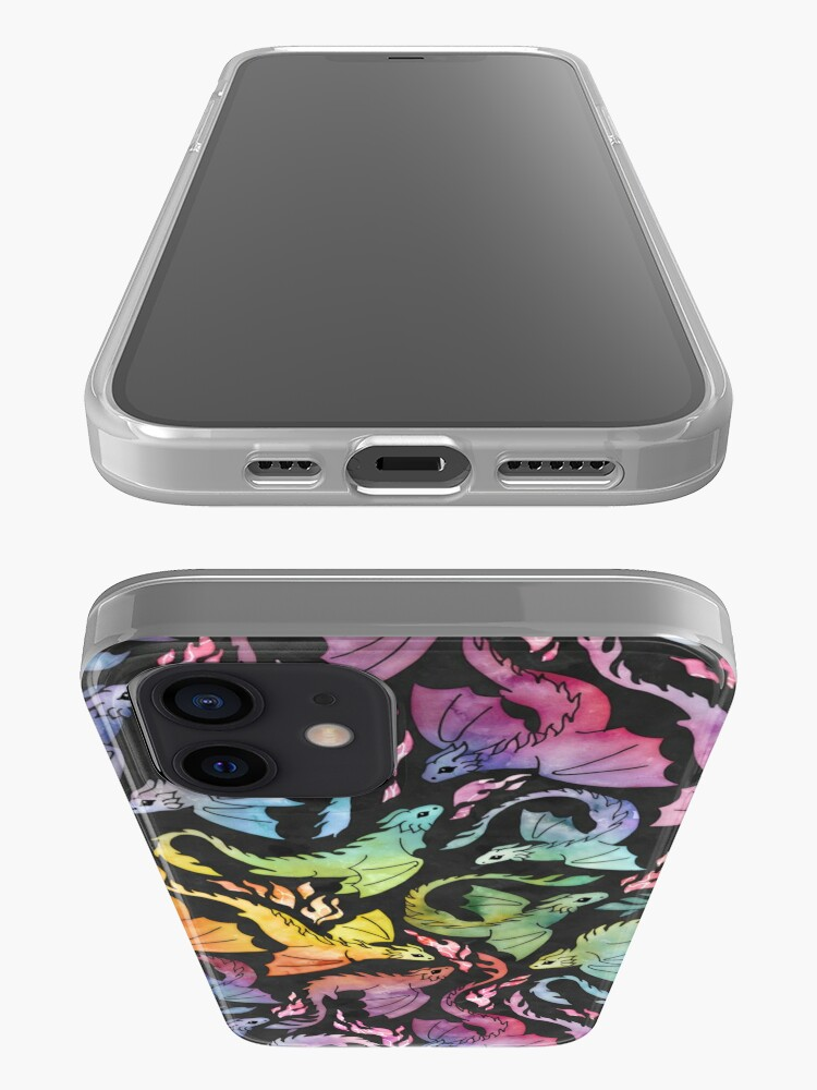 Alternate view of Dragon fire dark rainbow iPhone Case & Cover