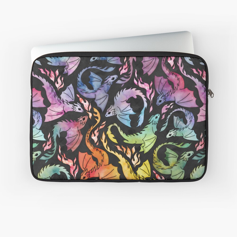 Dragon fire dark rainbow Laptop Sleeve