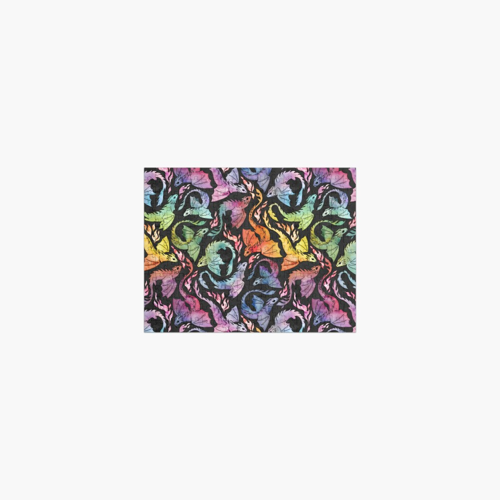 Dragon fire dark rainbow Jigsaw Puzzle